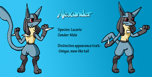 Appearance comparison: Alexander the Lucario by Ryusuta