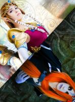 Princess Zelda and Midna by LayzeMichelle