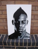 Mario Balotelli - Spray Paint Stencil on canvas by RAMART79