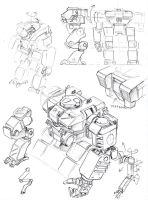 mecha sketches by TugoDoomER