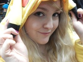 I love my Pikachu hoodie :D by MochiFairy
