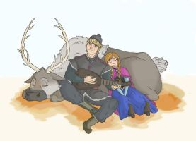 Anna and Kristoff by avaelle95