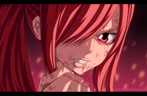 manga fary tail 388 - erza by sAmA15