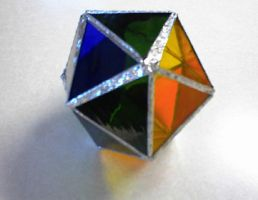 Stained glass polyhedron by violetice