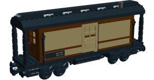 LCRR: Baggage Car 1869-1910 by steamrailwilly