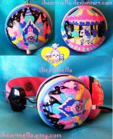 Milky Planet Headphones by Iheartnella