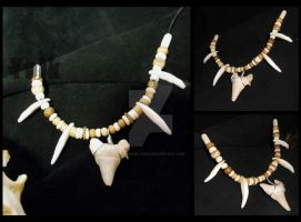 Fossilized Shark Tooth Chief Choker by Shamans-Yoik