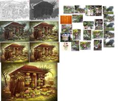 Flower  House Setps/Tutorial by AlineMendes