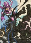 Galactus vs eternity colored by berniecooke