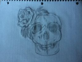 another Skull and roses by SmokeyDan13