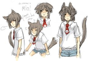 new OC doodle Mio by O-Kei
