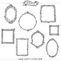 Classic Frames Hand Sketched by Nedti by Nedti