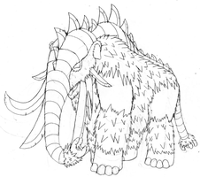 Mammoth Kaiju concept sketch by FiftyFootWhatever