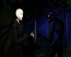 Slenderman y Enderman /PhotoScape Edit by Tony by cartoonT0ny