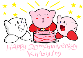 20 Years of Pink Puffballs XD by LizDraws