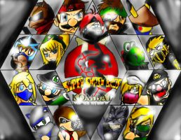 Super Smash Brothers Kombat II by Tetsushi