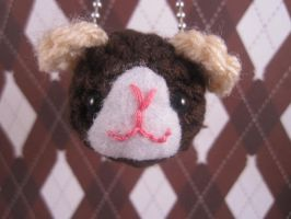 Amigurumi Guinea Pig Keychain by AmiTownCreatures
