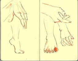 Mains/pieds - Exo I by Ophelie-c