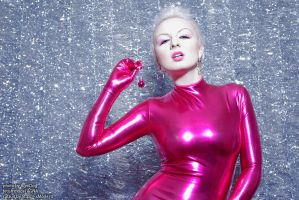 pinky catsuit happy new year by AgnaDevi