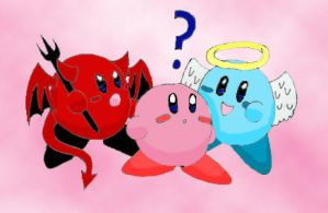 Kirby's Conscience by podglet