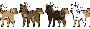 Natural Deer Adopts CLOSED by Kyarii-chan