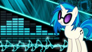 Vinyl Scratch Wallpaper 1920x1080 by Glitcher007