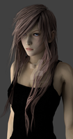 Lightning with Long Hair (Blender Version) by NovaCrystallisXIII