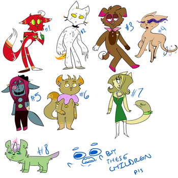 Adoptable Batch! by ServileSandStorm