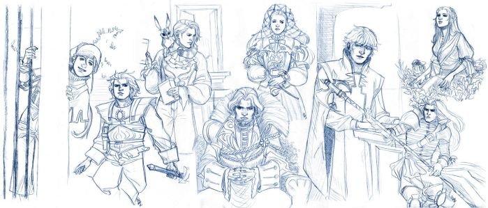 Saga Frontier 2 Sketches by wind-box