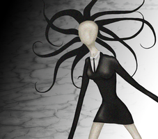Slender Woman by OcularFracture