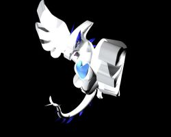 Lugia second render by XMangetsuX