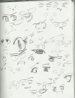 randomn expressions and eyes by WeabooAwesomeness