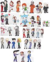 Ace Attorney Chibies Oh My by therichnobody