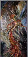 Phoenix stained glass by Svetlana-Eliro