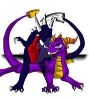 spyro and cynder by Minerea