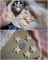 StarFish Polymer Clay Buttons by ChrisOnly
