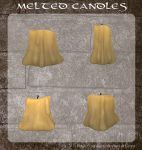 3D Melted Candles by zememz