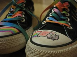Nyan Shoes by omgninjaspazz