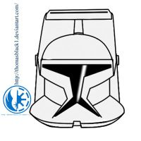clone helmet with visir by ThomasBlack1