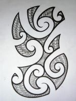 Maori Half Sleeve Design by Elbaco