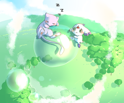 Calumon and Mew by Kristallschweif