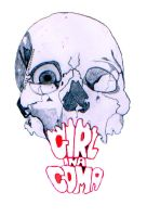 Girl in a Coma Skull by xluvmexrabitx