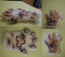 Paws 01 FOR SALE by InsaneFern-Fursuits