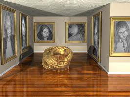 Raytraced Gallery w/ Drawings (no brick) by mcsoftware