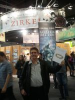 At the book fair in Frankfurt2 by Point-Blank-Silence