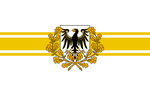 Golden-White prussian victory flag by Arminius1871