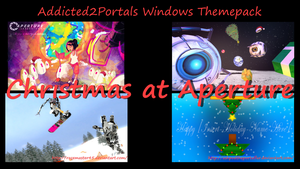 Addicted2portals Christmas at Aperture Themepack by Th00z