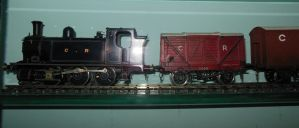 Caledonian 0-6-0 Tank and Freight Train by rlkitterman