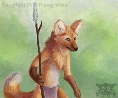 Maned Wolf by Penny-Dragon