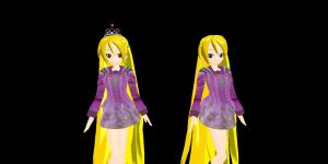 MMD Model Rapunzel by kellytecna
